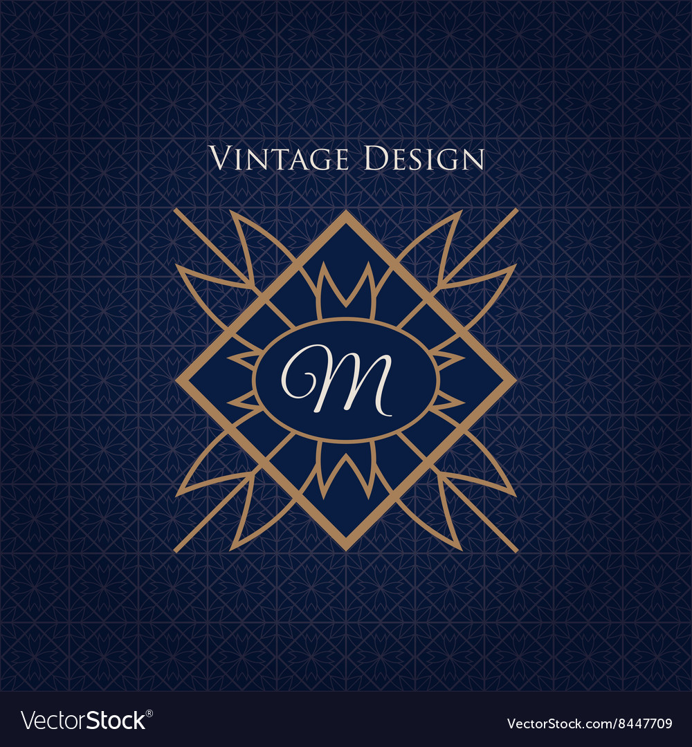 Simple and elegant monogram design template