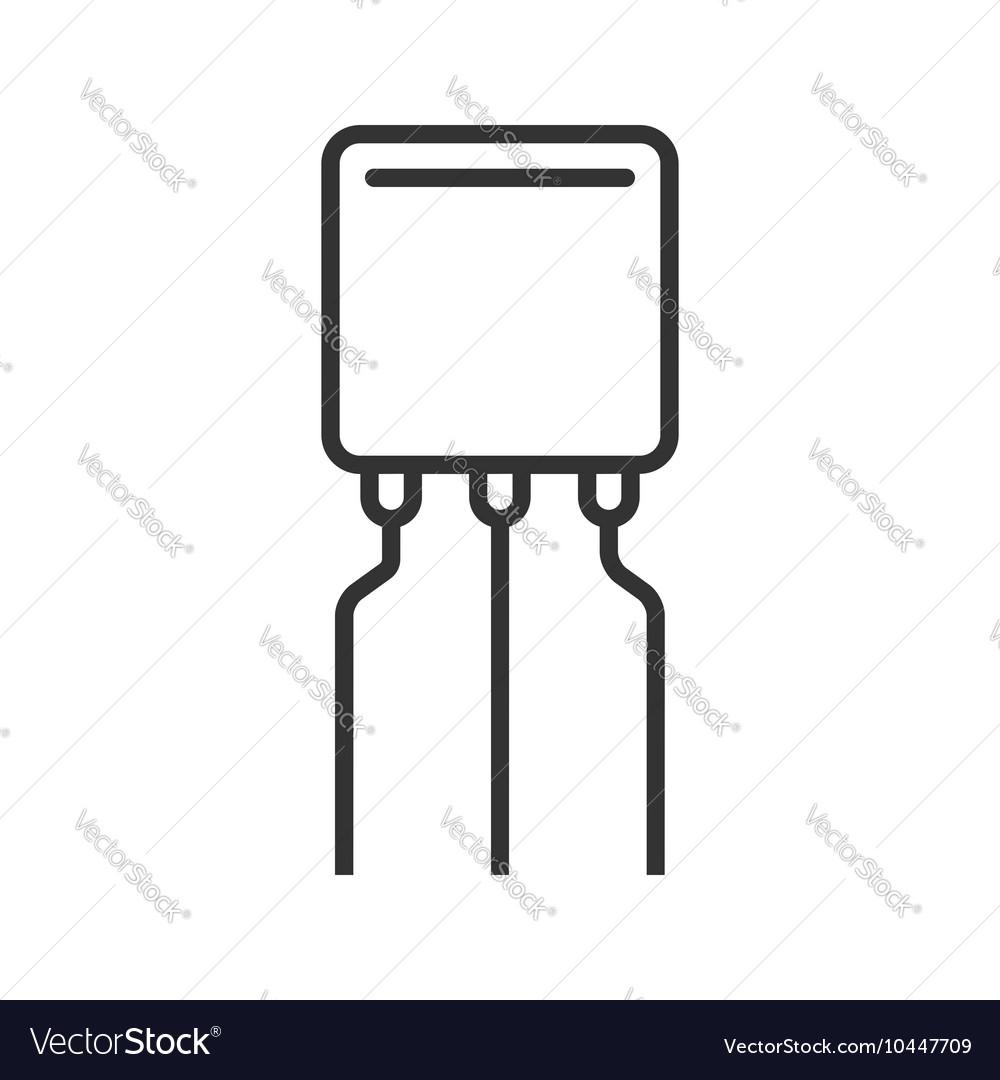 Transistor line icon