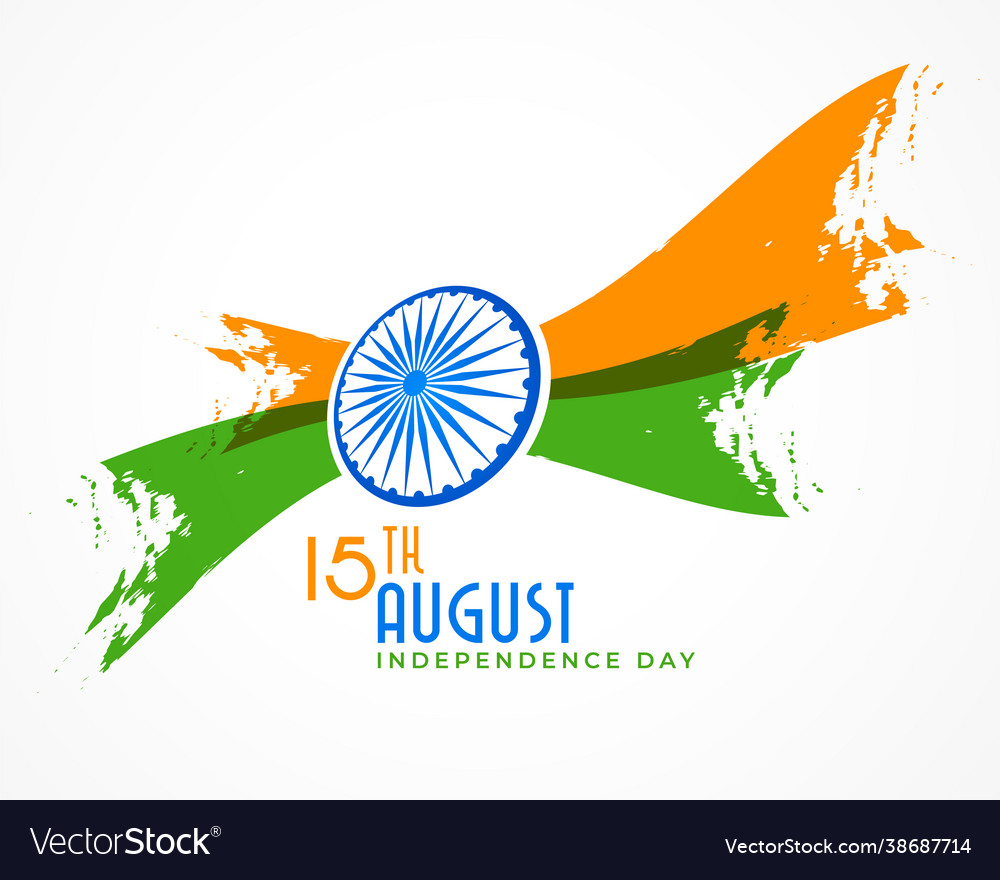 Abstract indian independence day creative