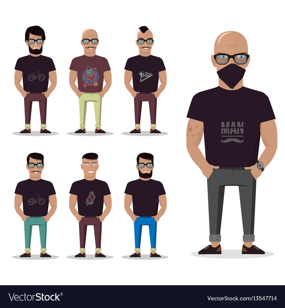 Cartoon male for graphic design web site social
