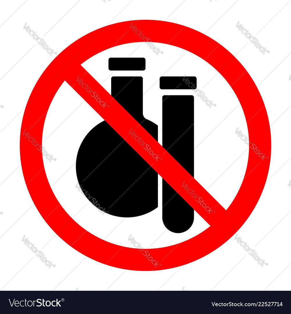 Chemical substances stop forbidden prohibition
