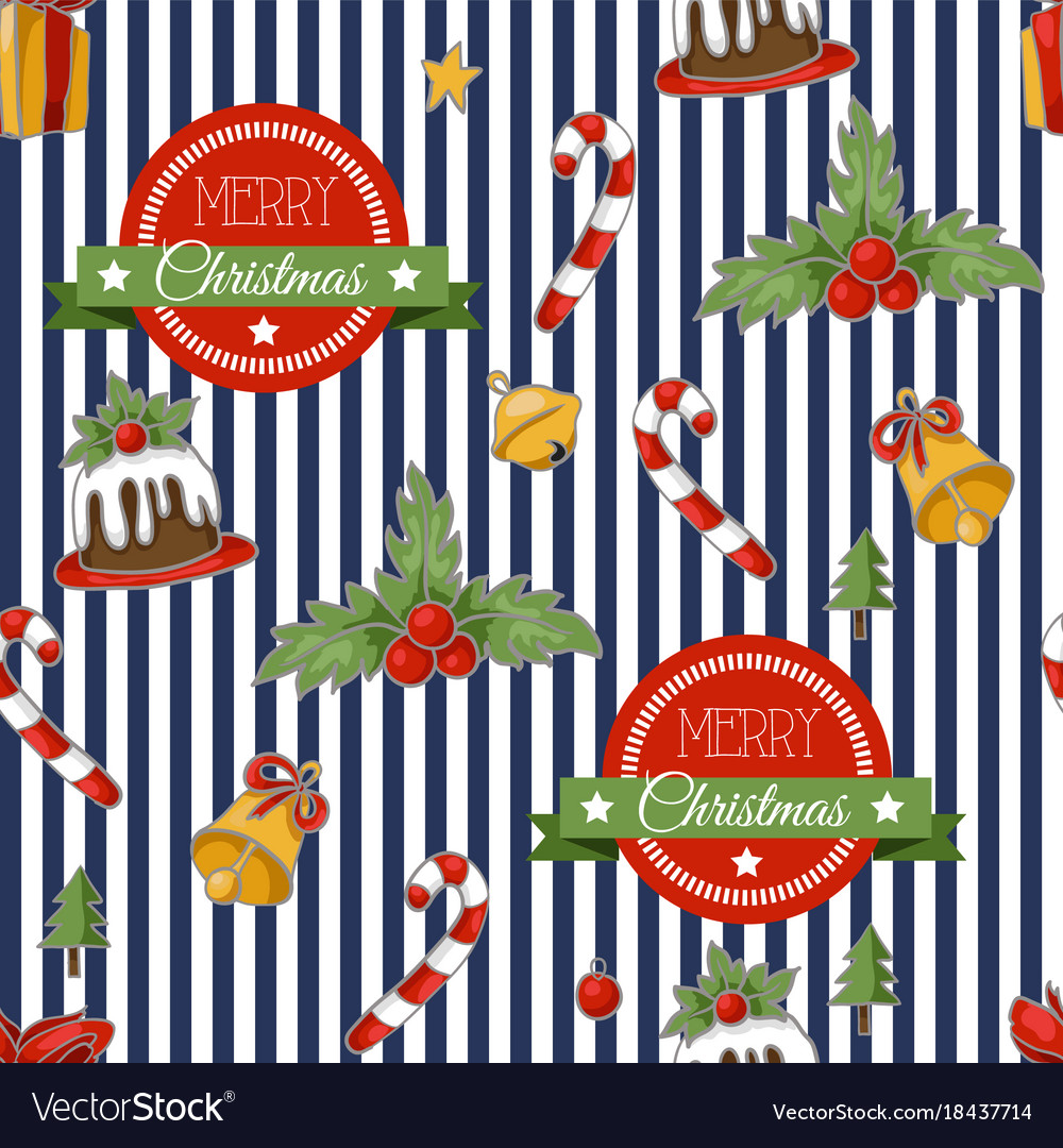 Christmas holiday pattern with santa