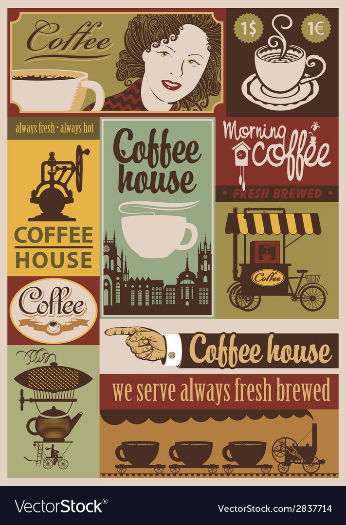 Coffee retro set