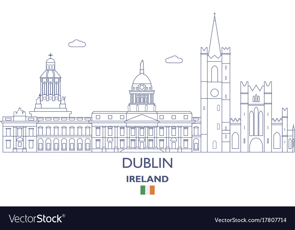 Dublin city skyline