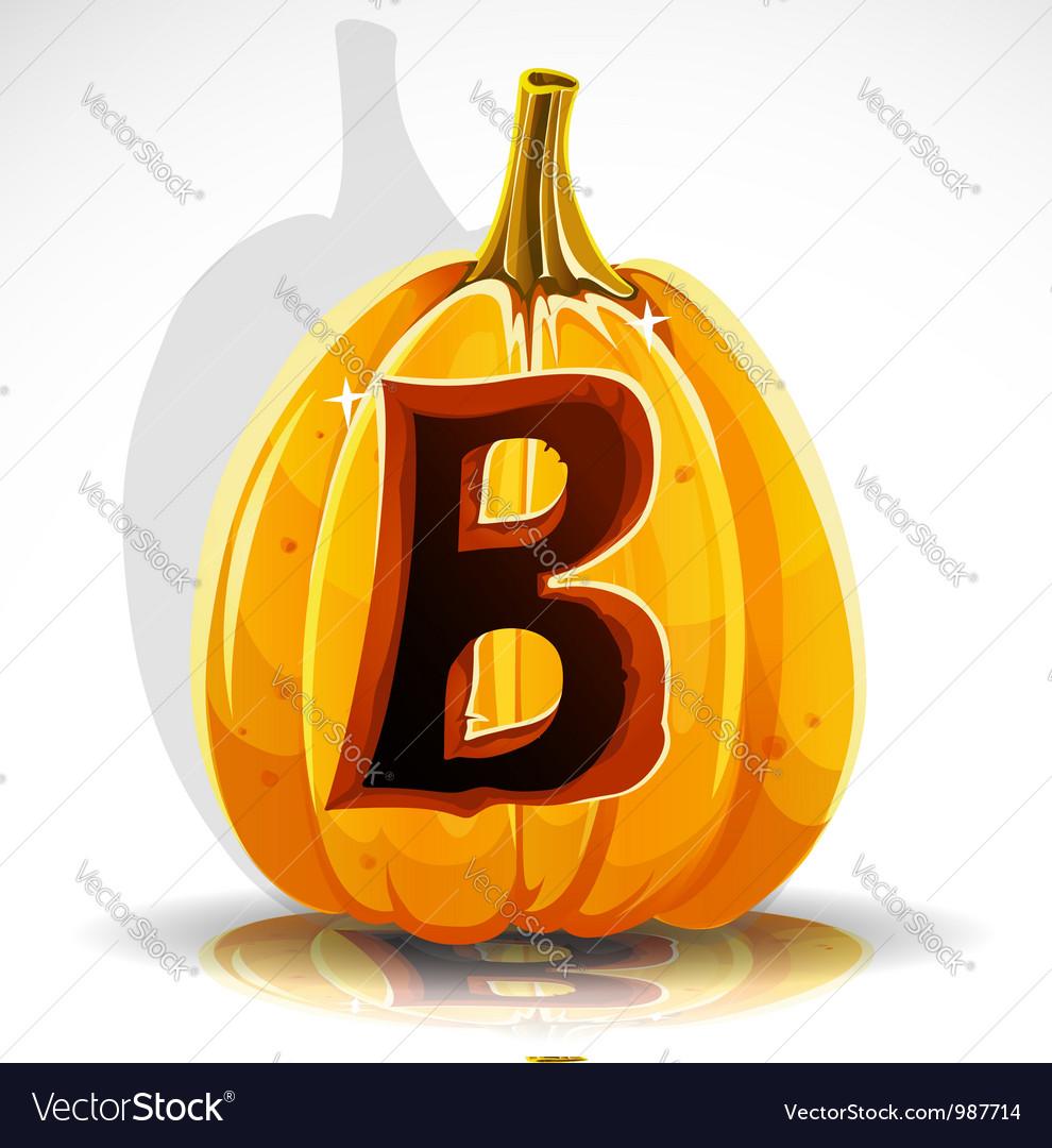 Halloween Pumpkin B vector image