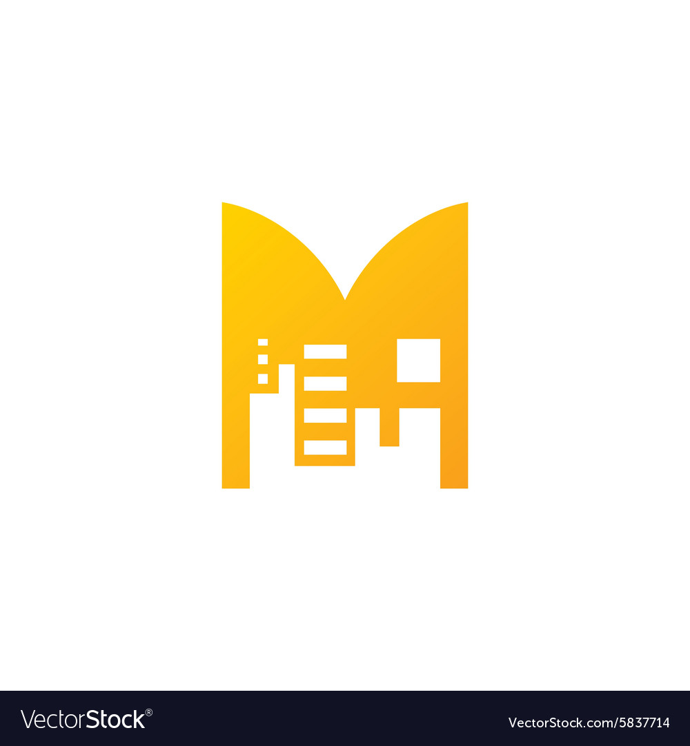 Real Estate sign Sign of the letter M