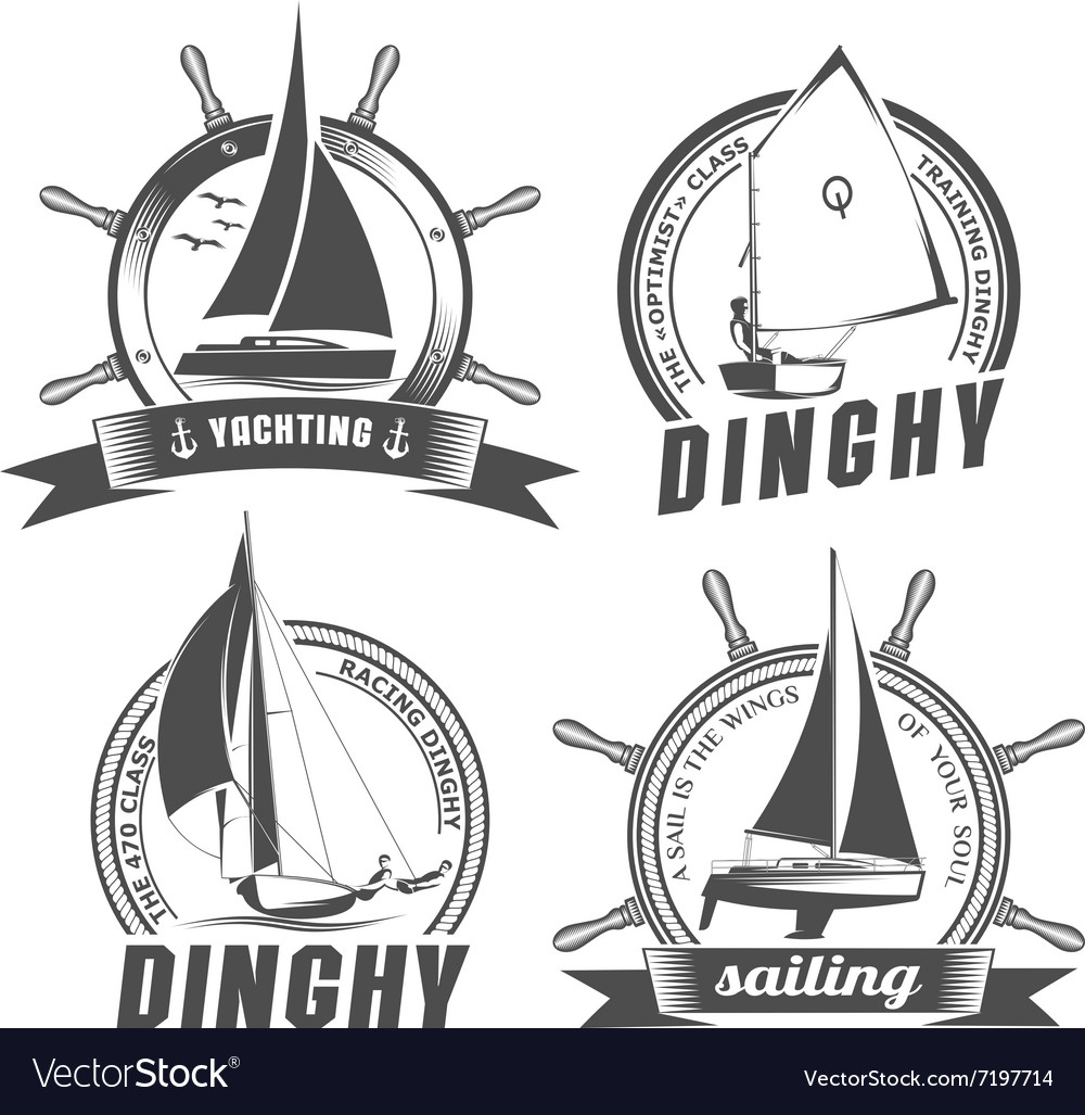Set of logos for sailing