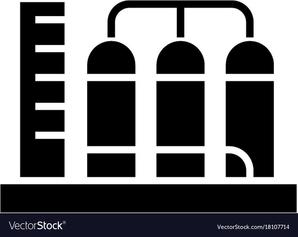 Tanks icon black sign on