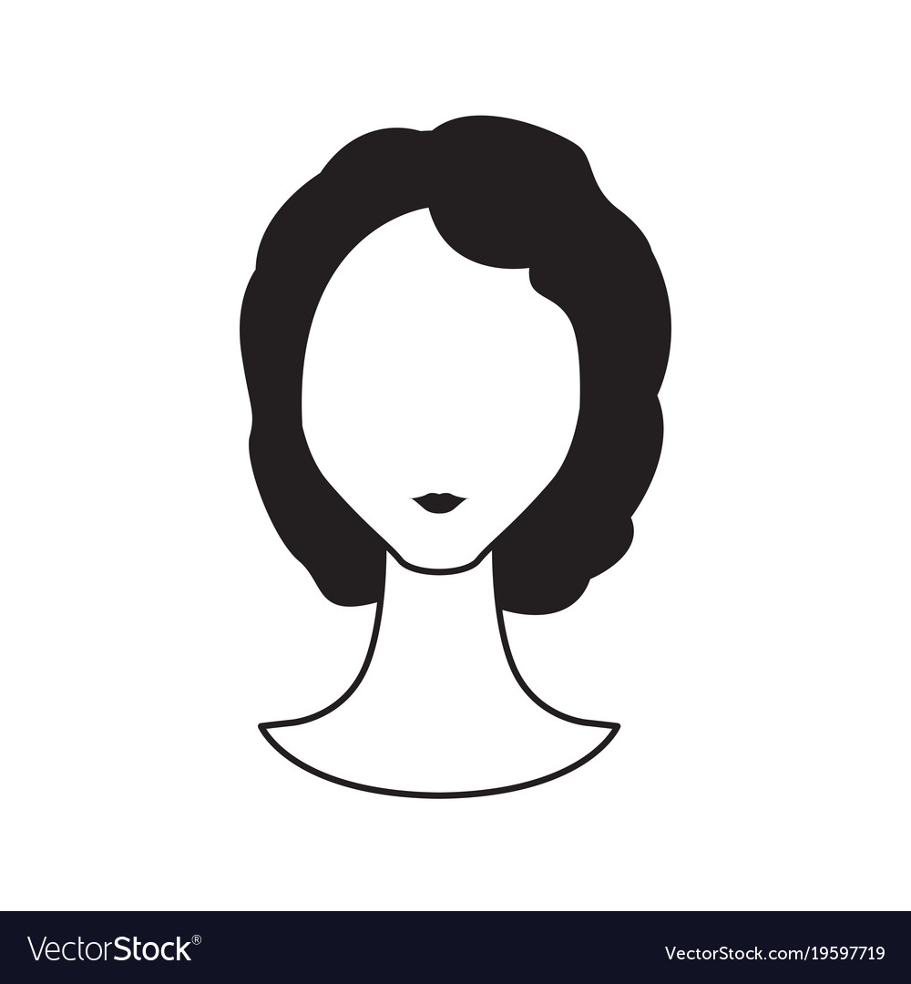 Abstract woman avatar