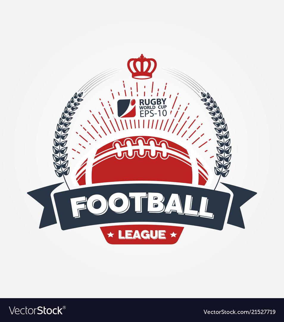American football league logo sport design