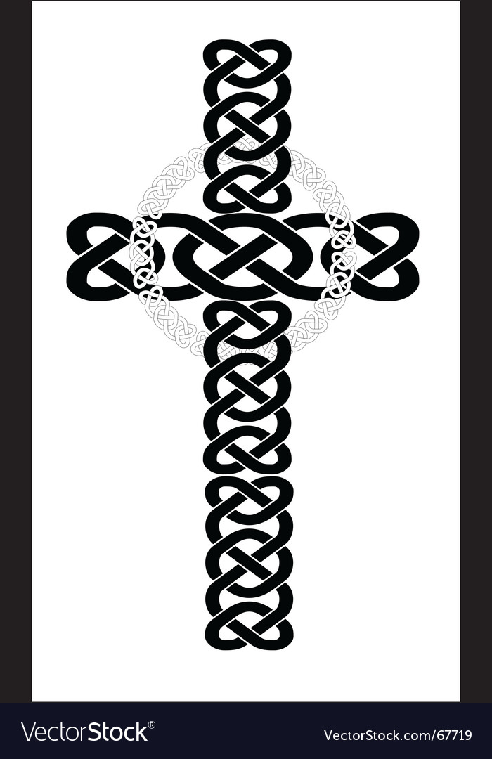 Celtic Cross Royalty Free Vector Image Vectorstock