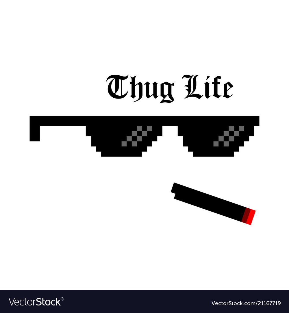 Creative Of Pixel Glasses Of Royalty Free Vector Image