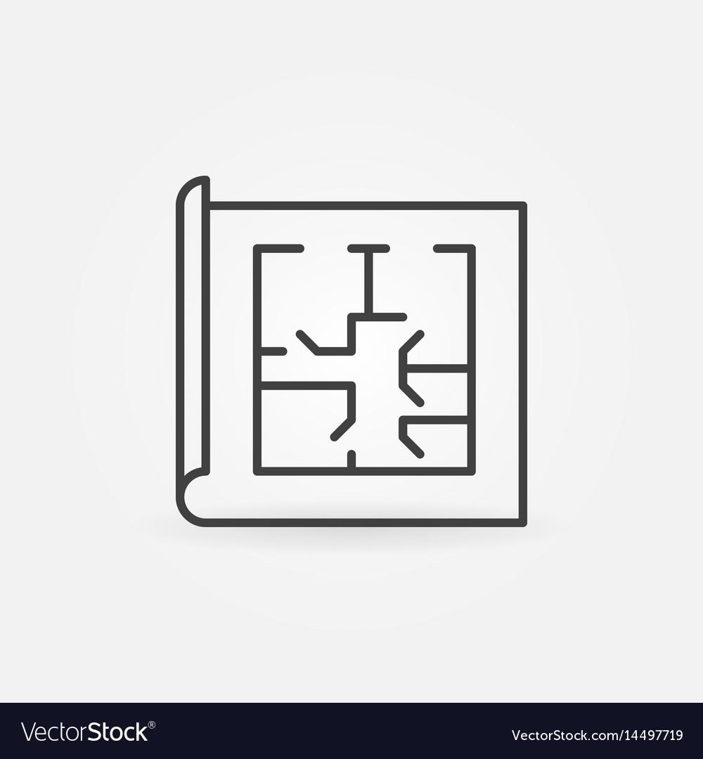 Floor plan linear icon