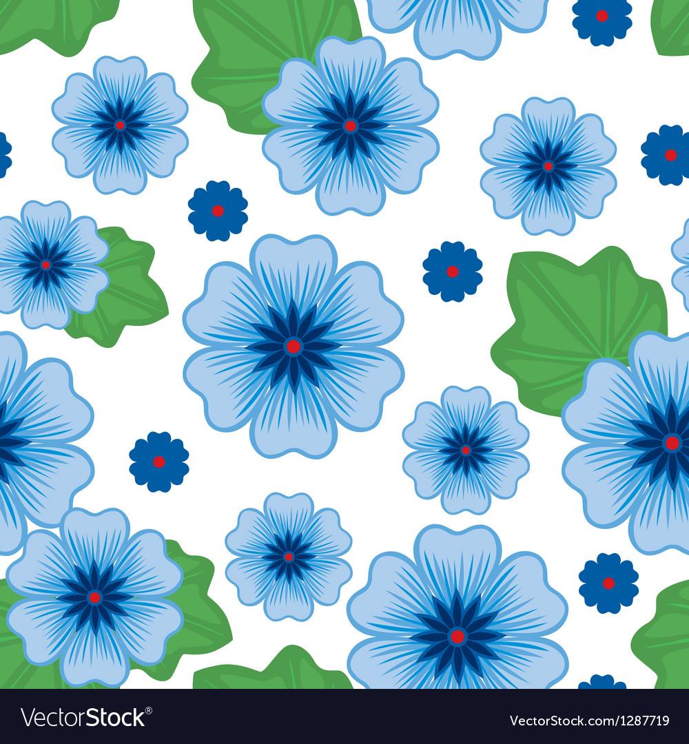 Flower seamless blue