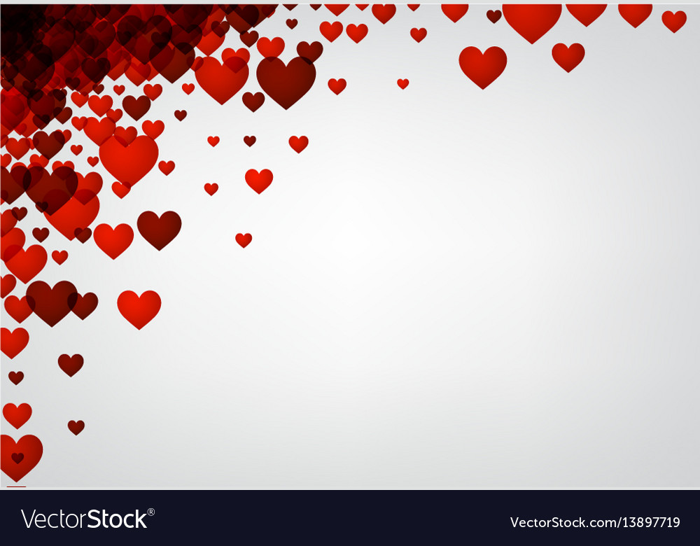 Love valentines background with hearts
