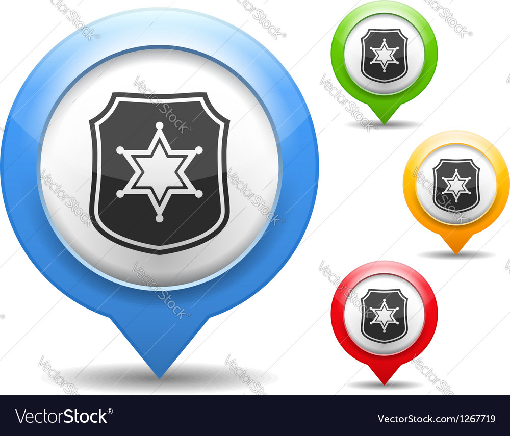 Police Icon vector image