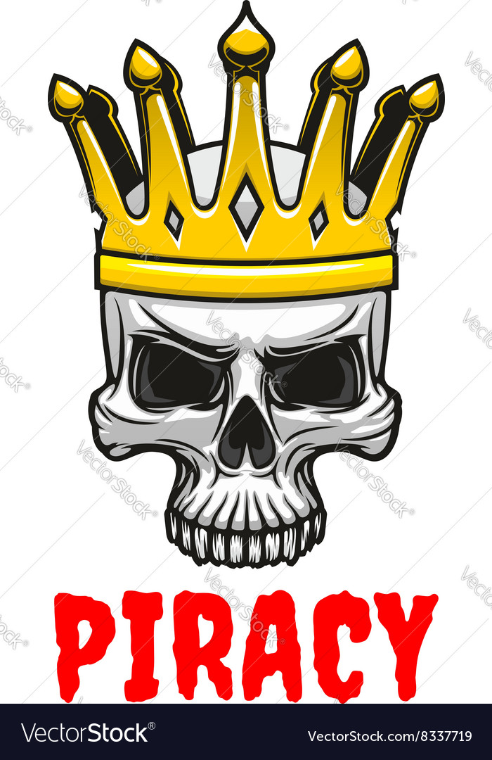 Skull In Golden King Crown Cartoon Symbol Vector Image Gold crown illustration, crown euclidean king, exquisite crown, king, happy birthday vector images png. vectorstock