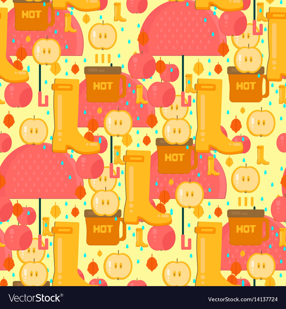 Autumn stuff pattern vector image