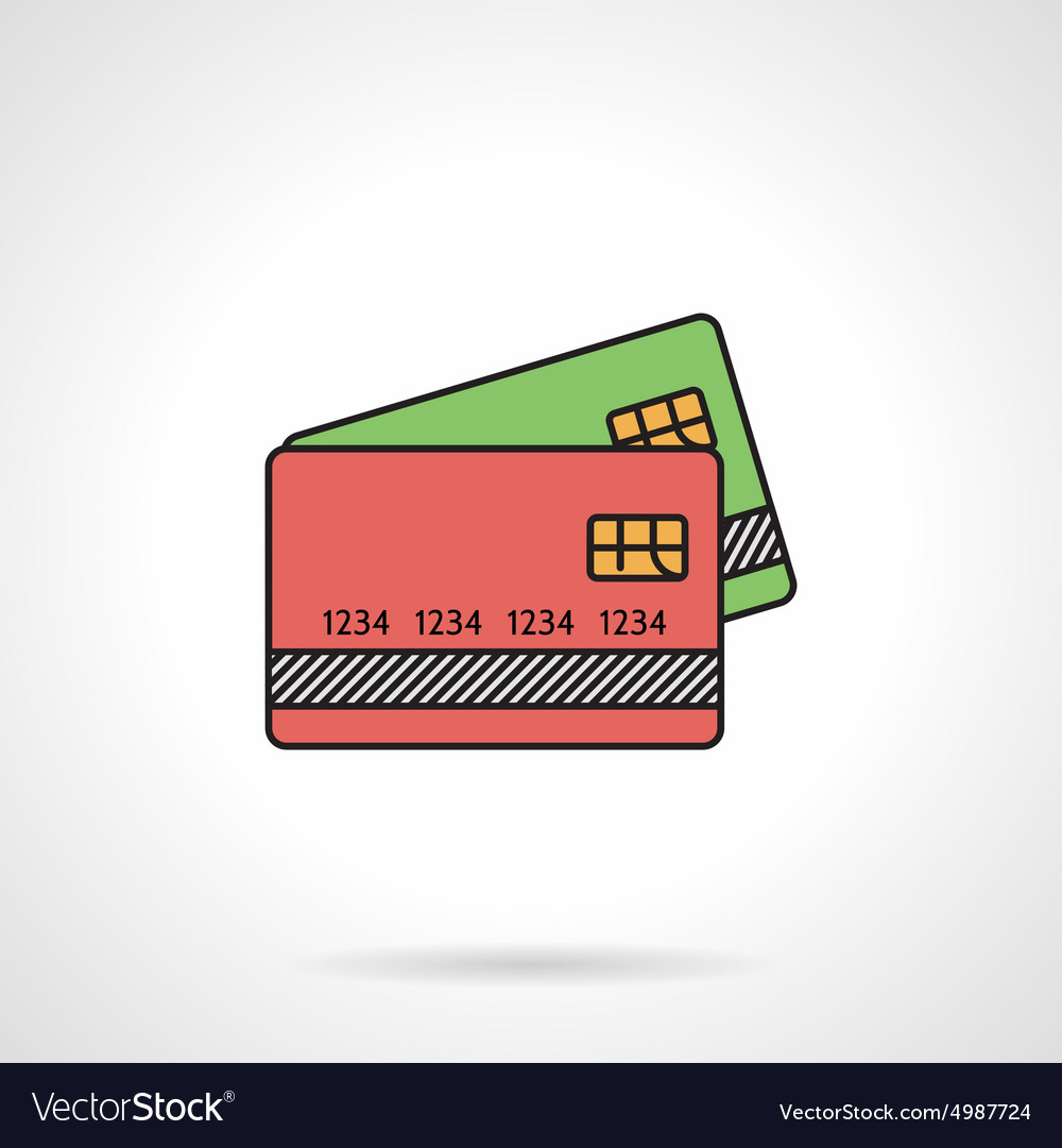 Credit cards flat color icon