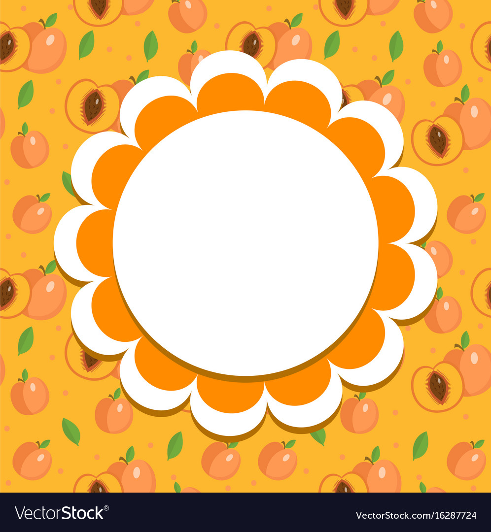 Peach label wrapper template for your design