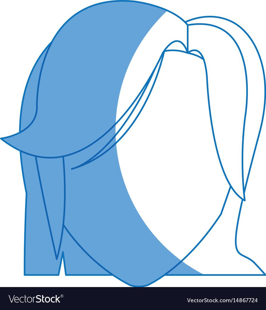 Portrait head female hairstyle modern vector image