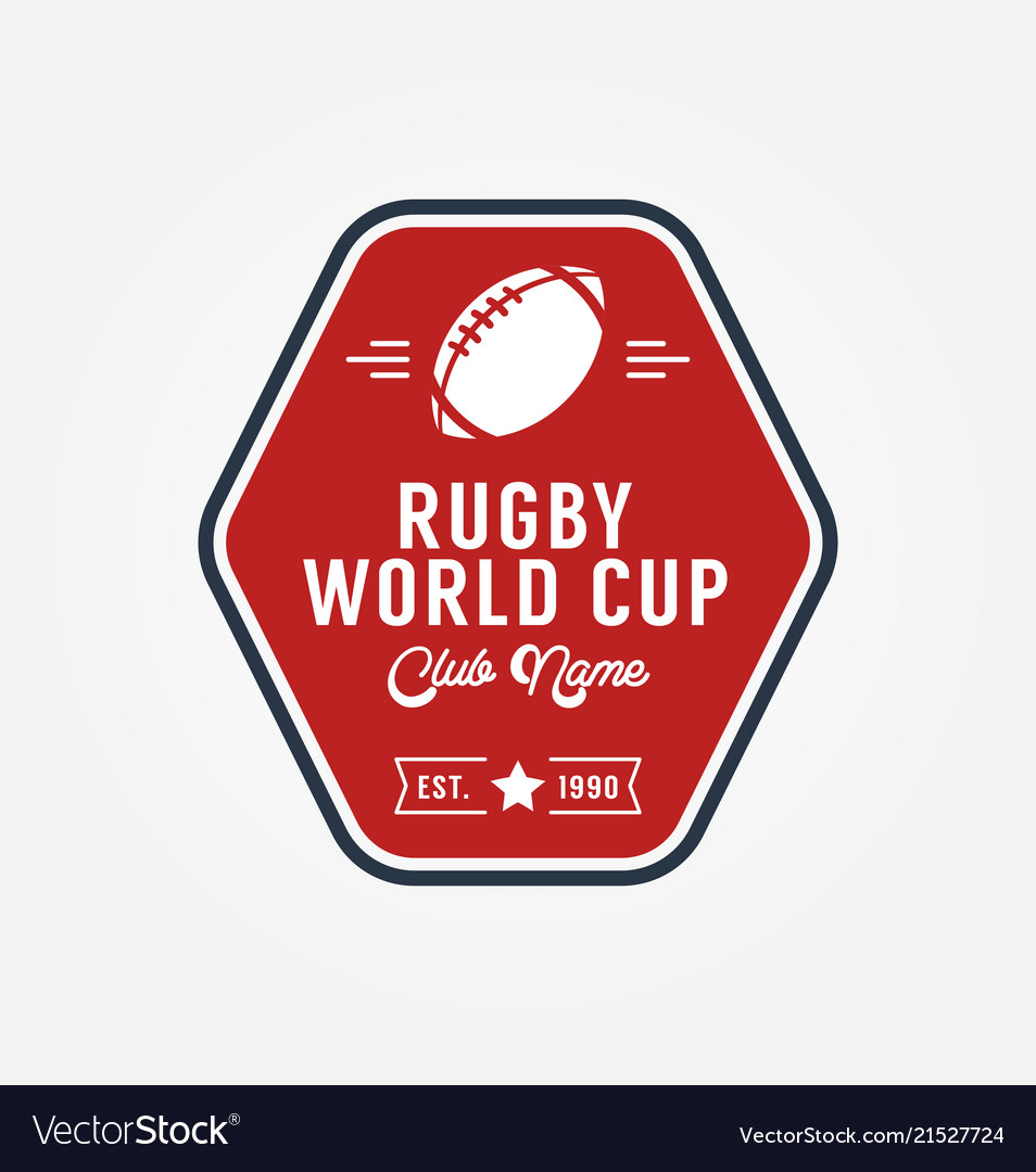Rugby world cup logo sport design