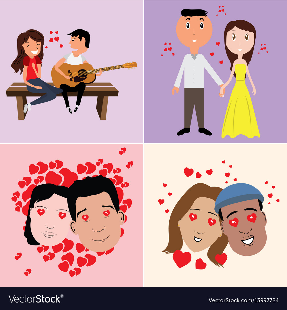 Set in-love characters