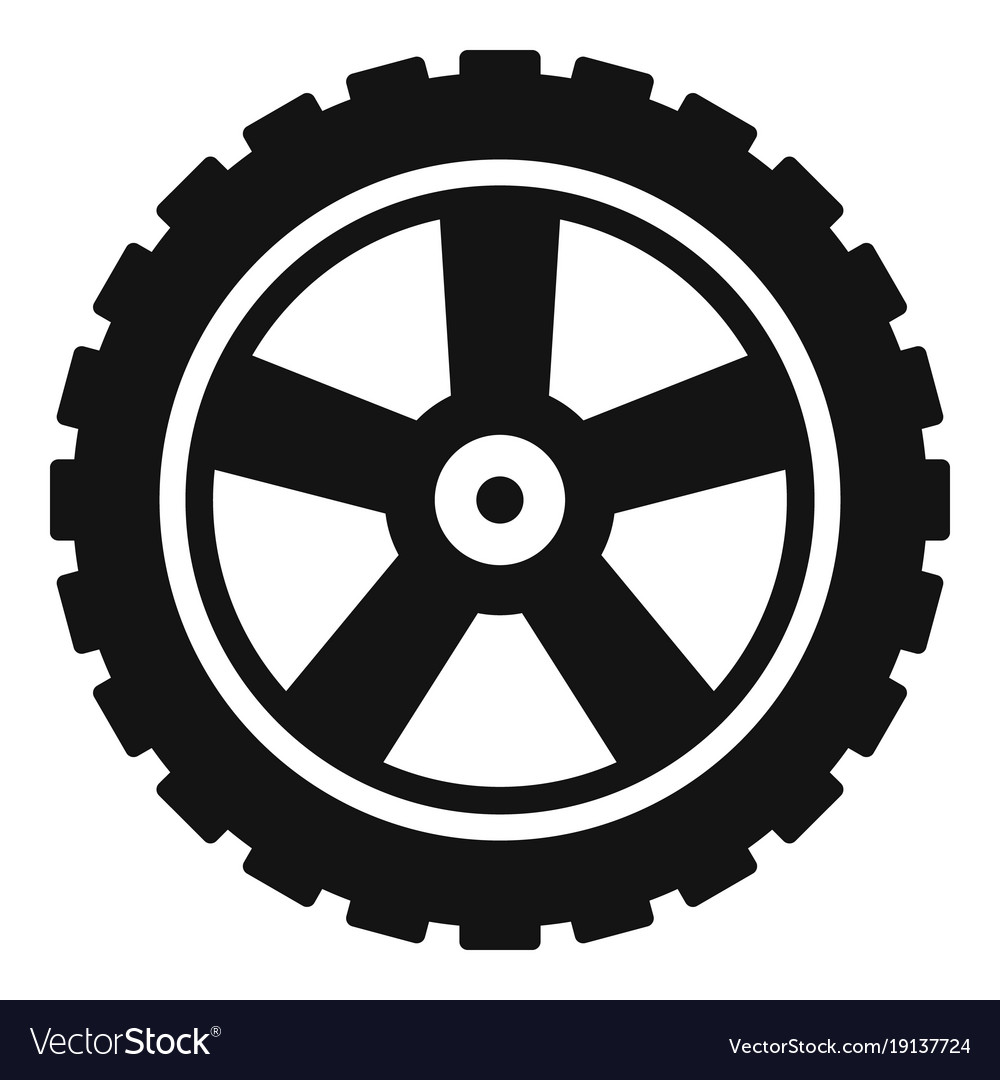 transport tire icon simple style royalty free vector image