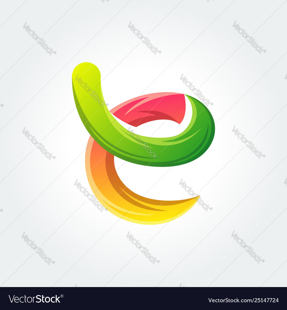 Vivid abstract letter e template