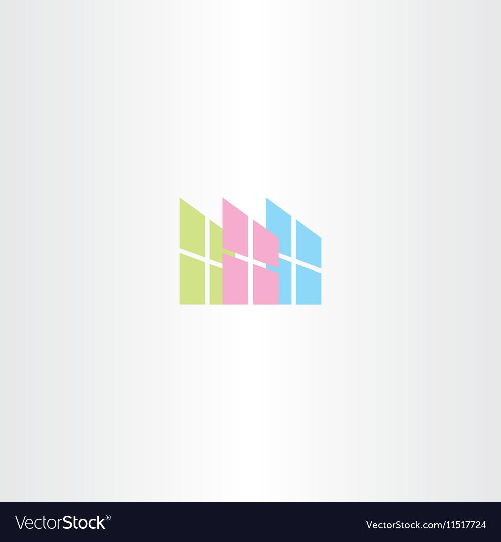 Window logo icon sign