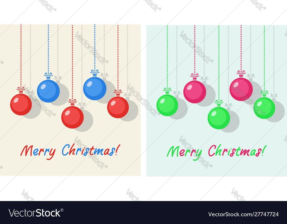Winter holiday christmas balls