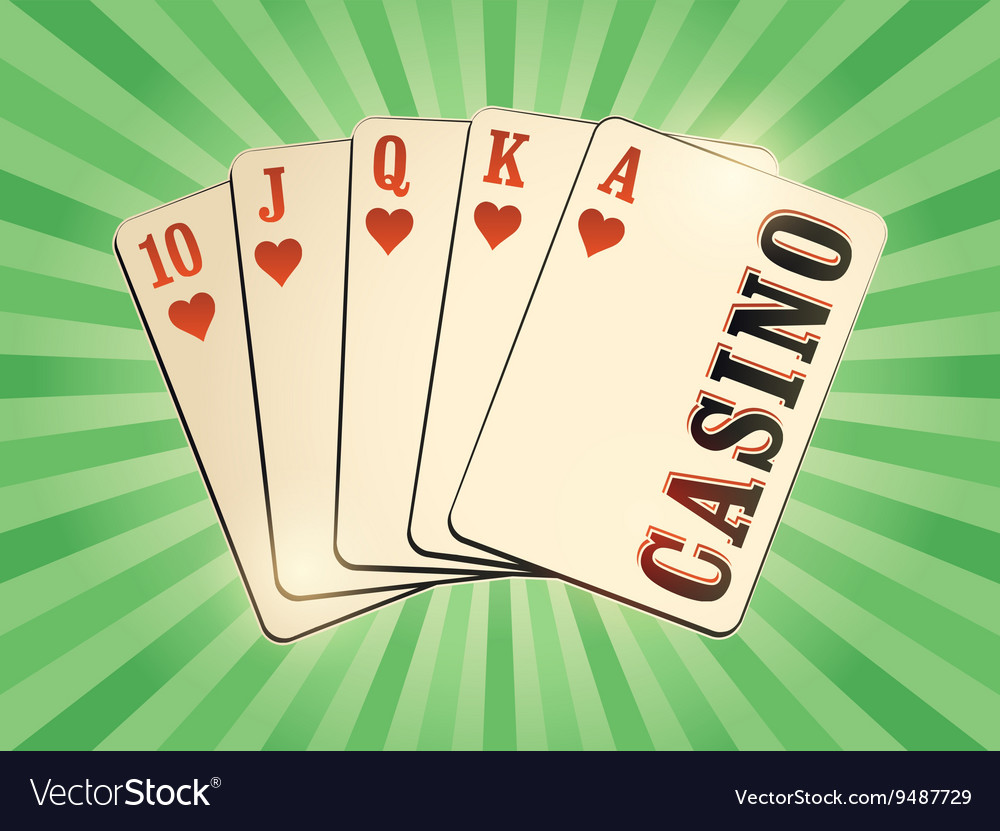 Casino vintage style poster vector image
