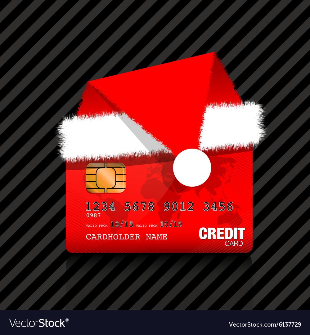 Christmas credit card Royalty Free Vector Image