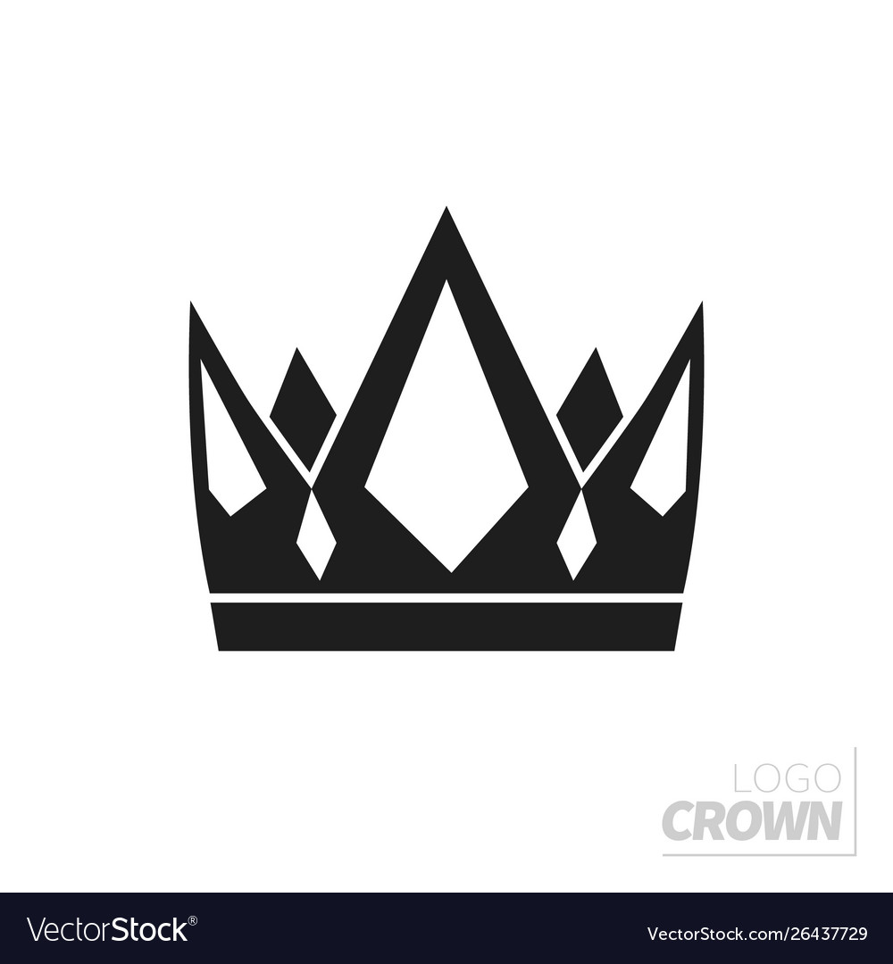 Flat crown isolated on white