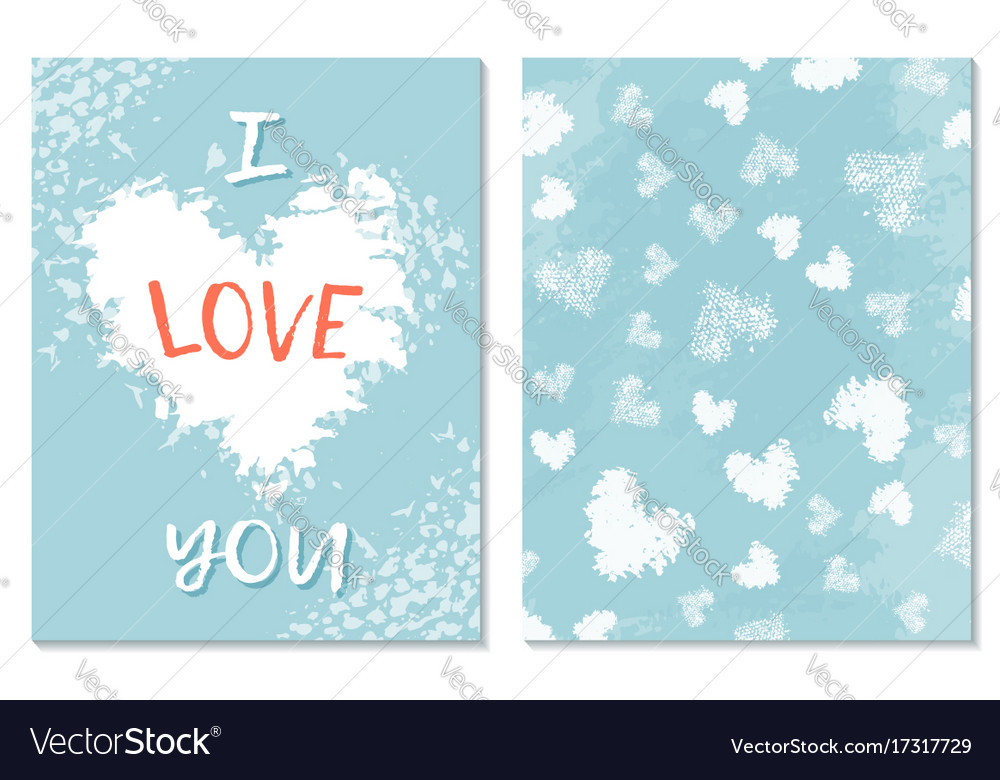 Greeting card for st valentine s day i miss you vector image m4hsunfo