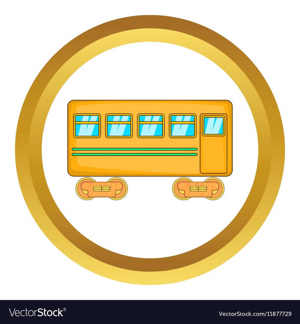 Rail car icon vector image