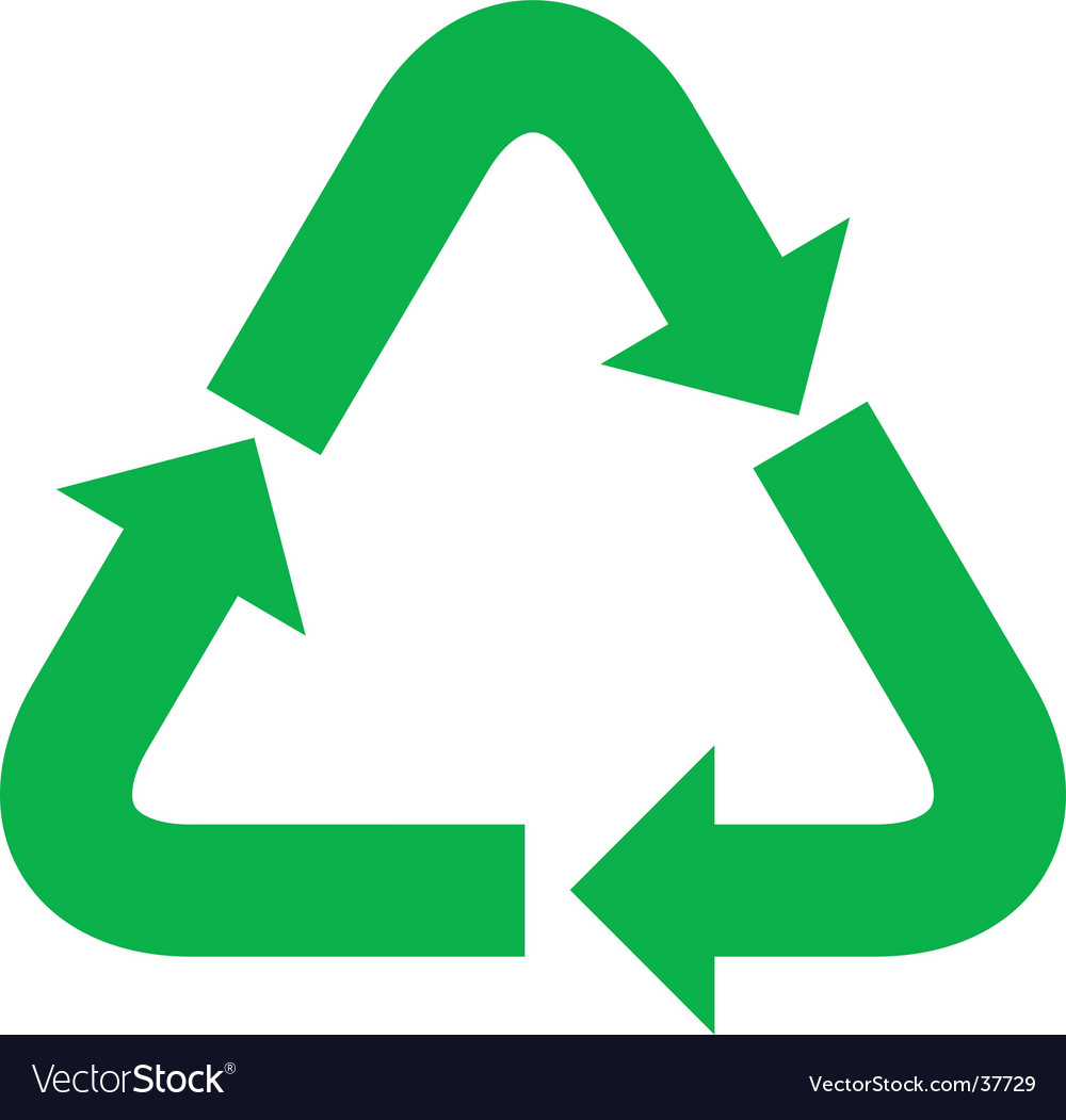 recycle symbol royalty free vector image vectorstock rh vectorstock com recycle logo vector png recycle logo vector pdf