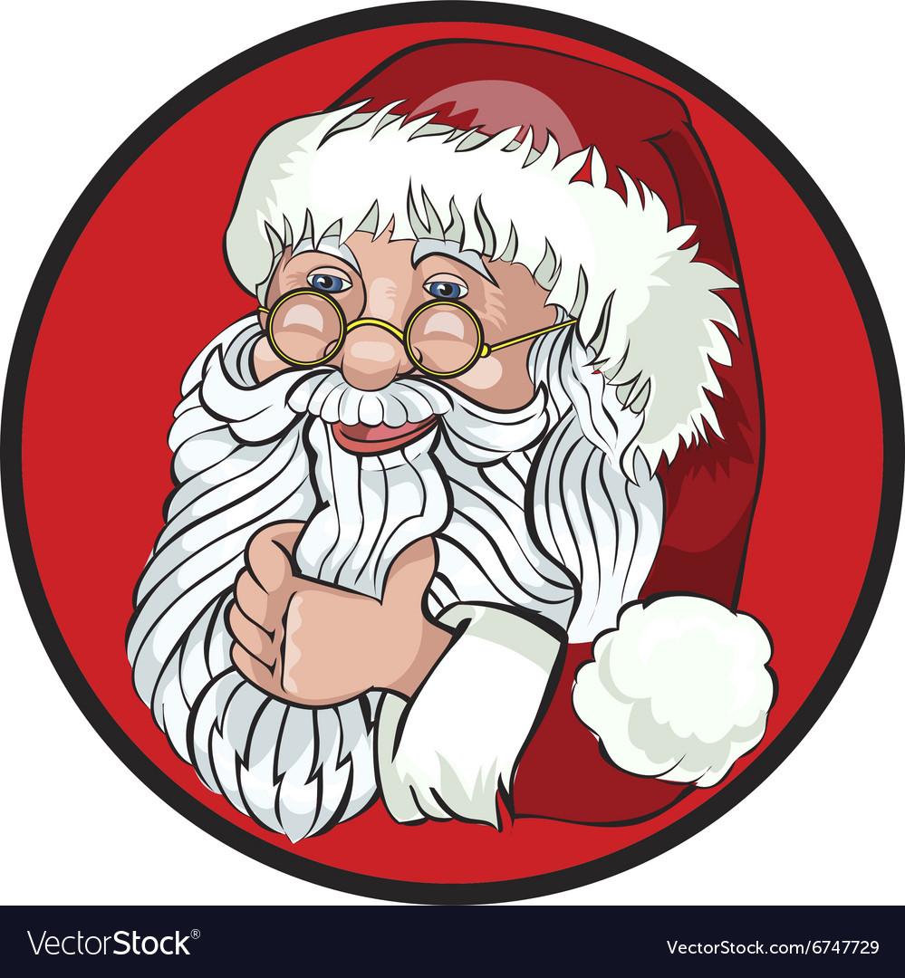 Santa Claus Cartoon Character Showing Merry