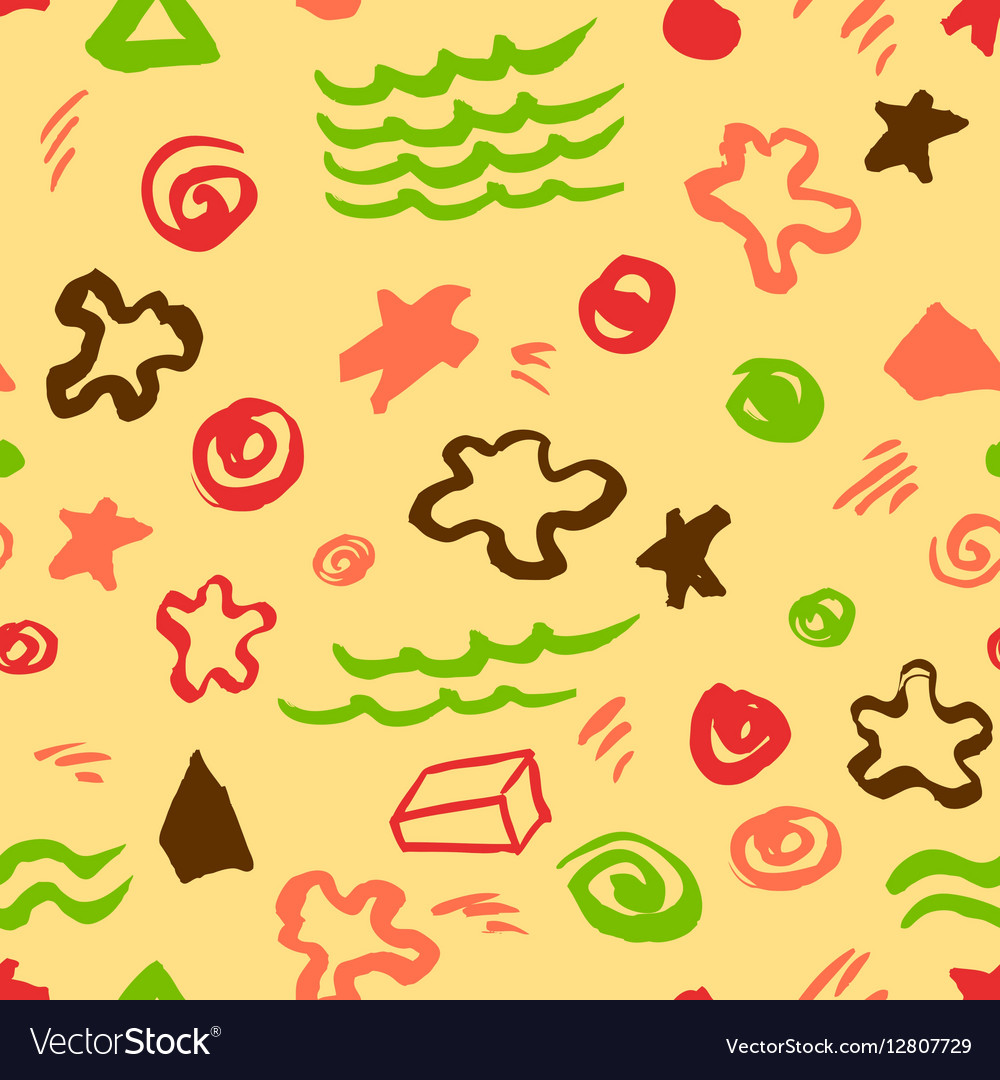 Seamless pattern with artistic geometric elements