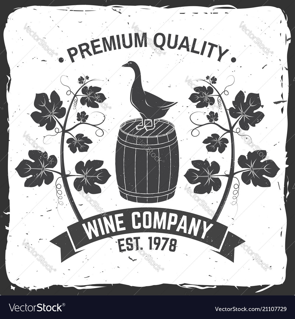 Winery badge sign or label