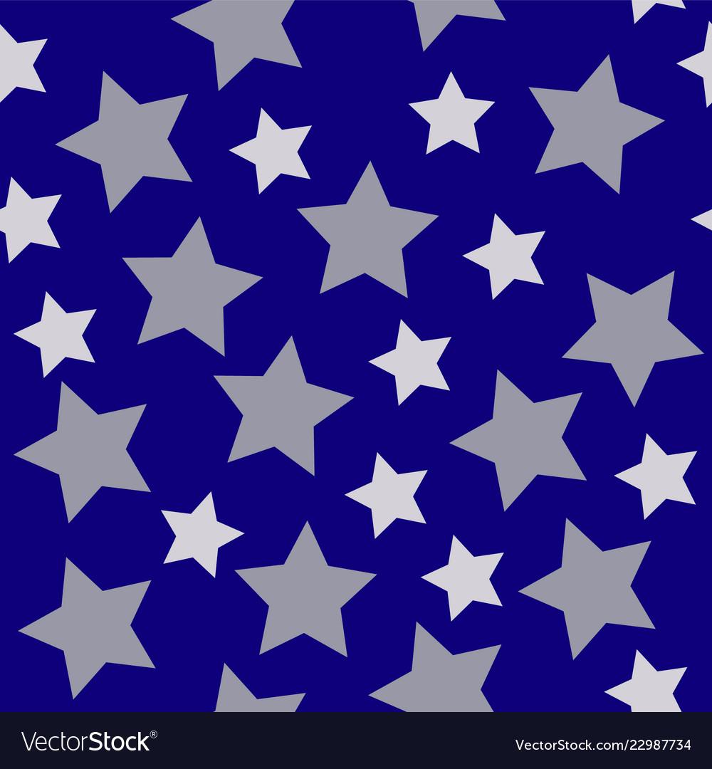 Christmas stars white silver on dark blue night