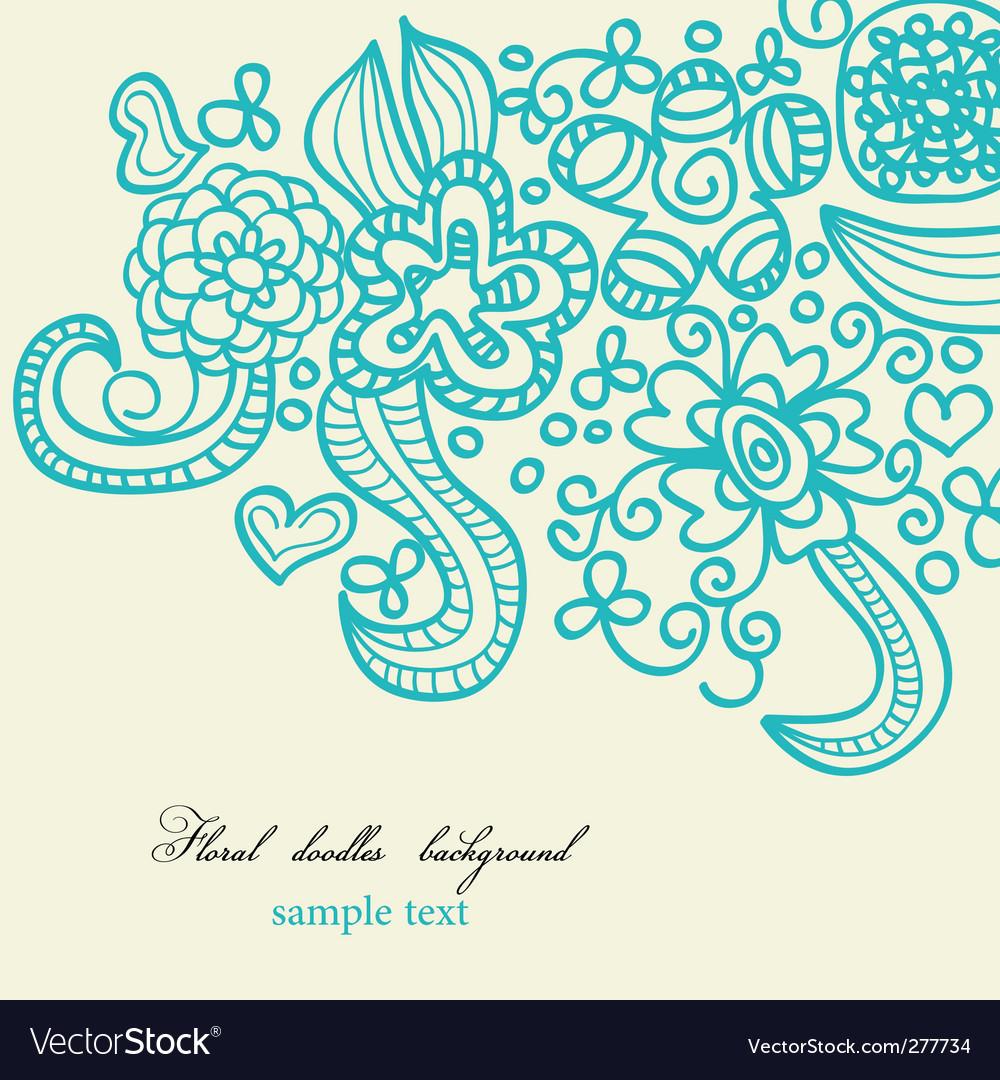 Floral doodles background