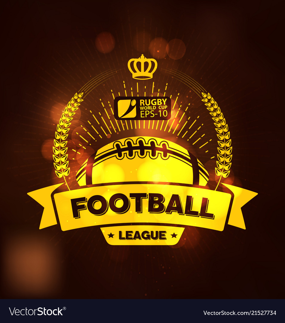 Football championship logo sport