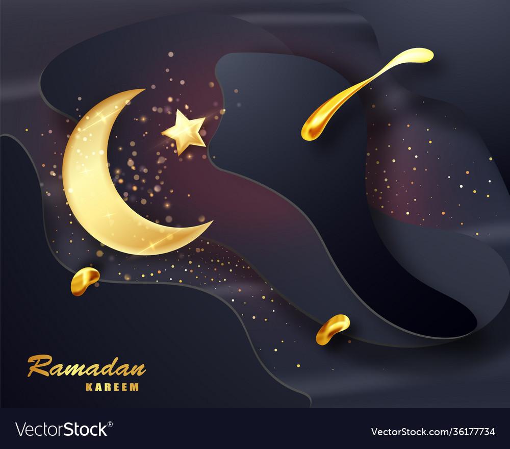 Ramadan kareem islamic design crescent moon