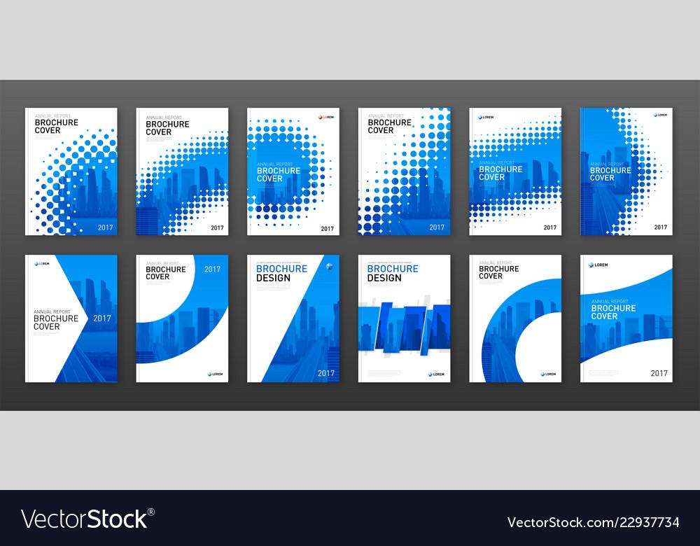 Real estate brochure cover design layout set