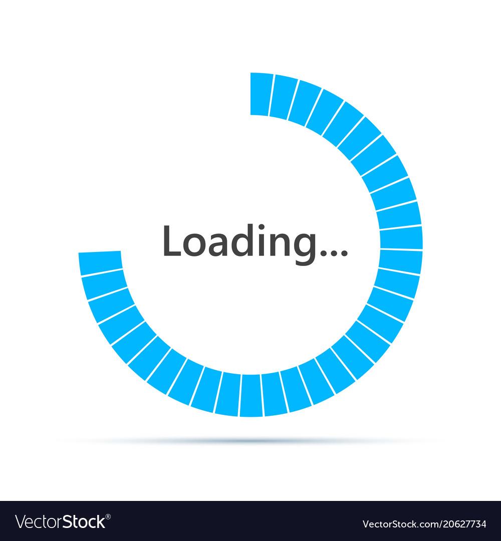 Round loading bar icon