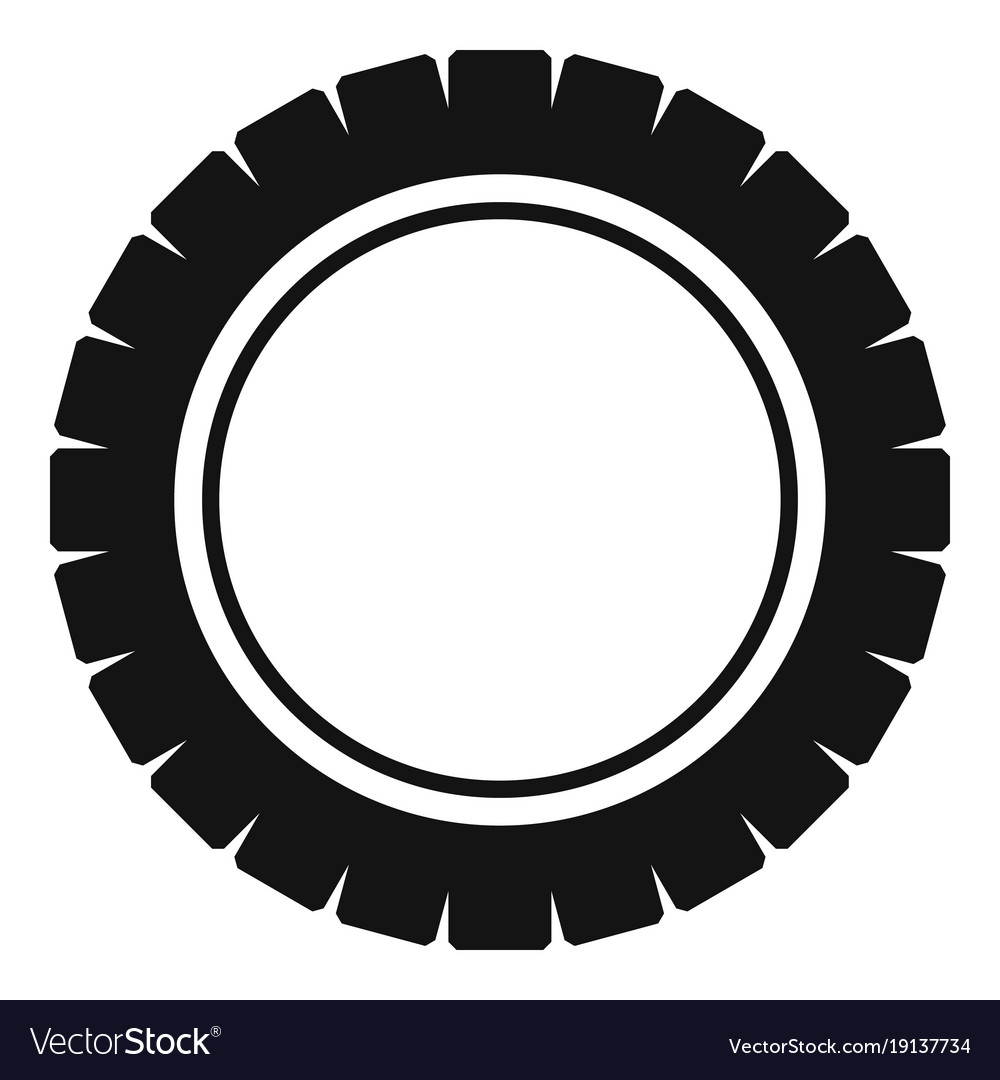 single tire icon simple style royalty free vector image