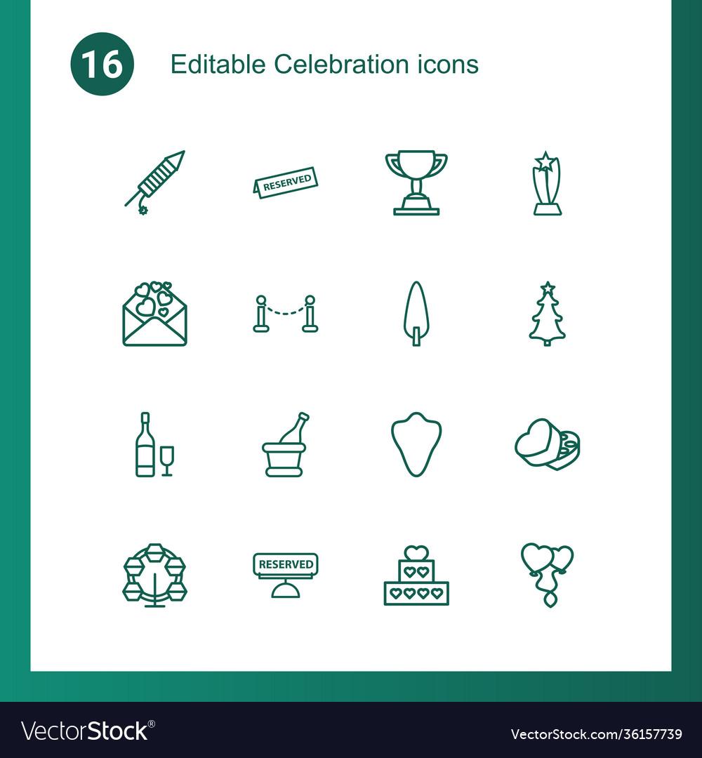 16 celebration icons