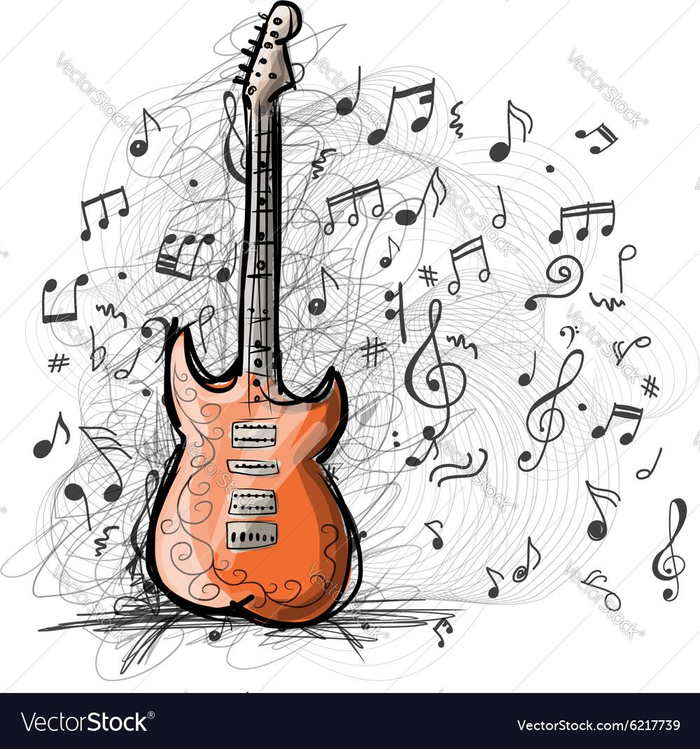 Прикольные рисунки гитары фото