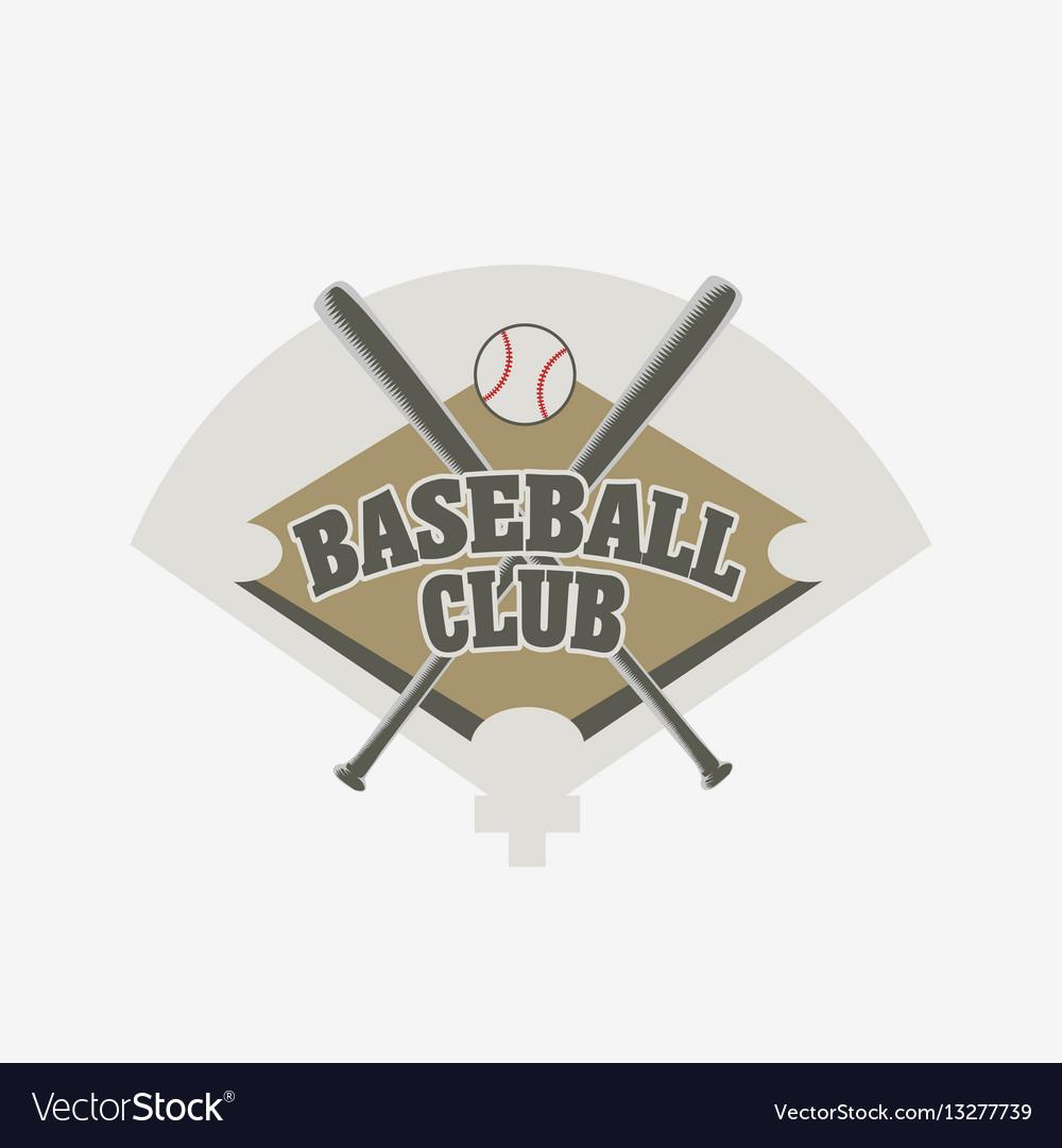 Baseball club logo badge or symbol design concept